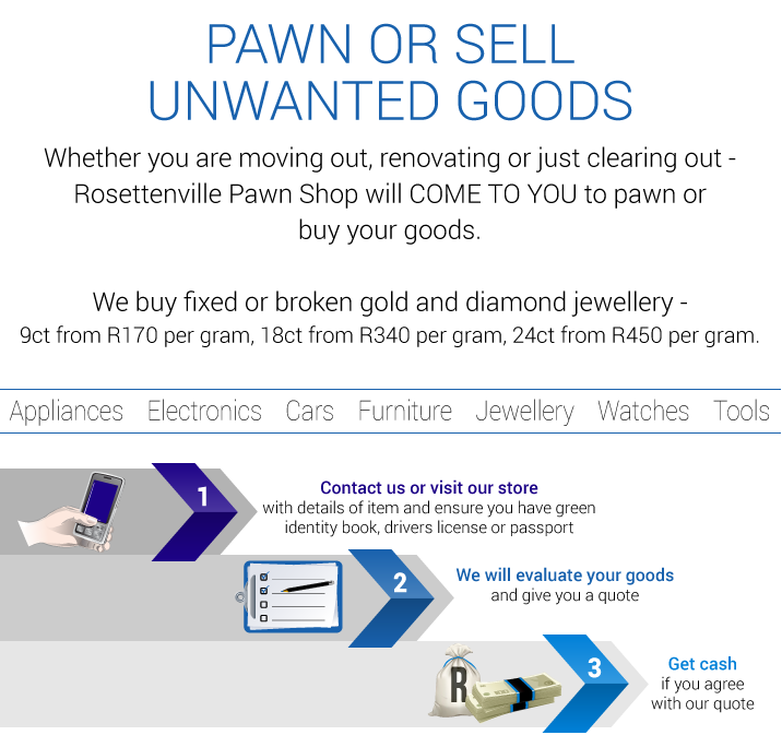 pawn or sell unwanted goods